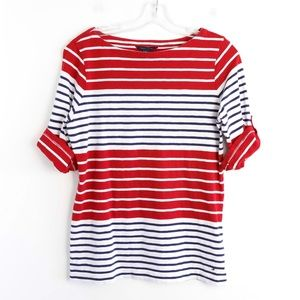 Tommy Hilfiger horizontal striped cotton stretch L